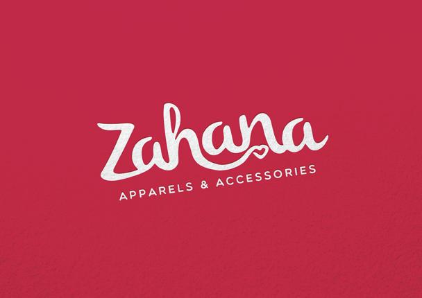 Brand mark for fashion boutique 'ZAHANA'