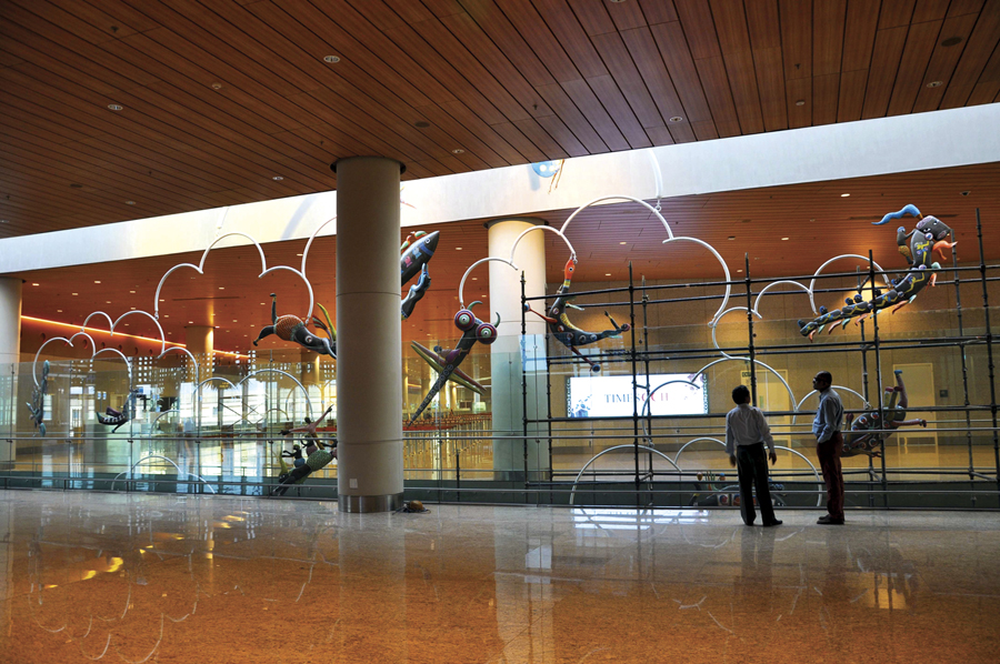 Mumbai's International Terminal - T2 ' Flying Locomotives'