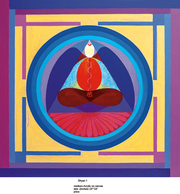 """Dhyan Medium - Acrylic on canvas Size - 24""""X24"""""""