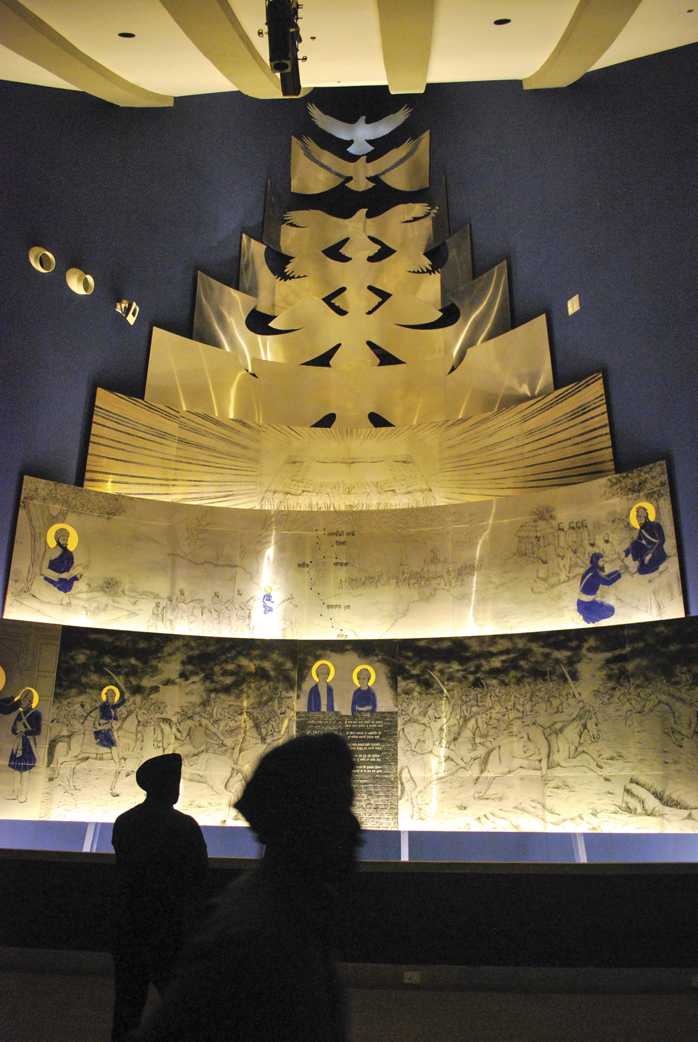 The gallery with the story of Guru Gobind Singh