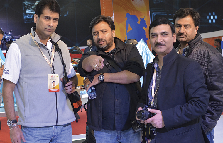 From left to right: Rajiv Bajaj, Sudhir Sharma, Ajay Gupta, Sudhish Sharma