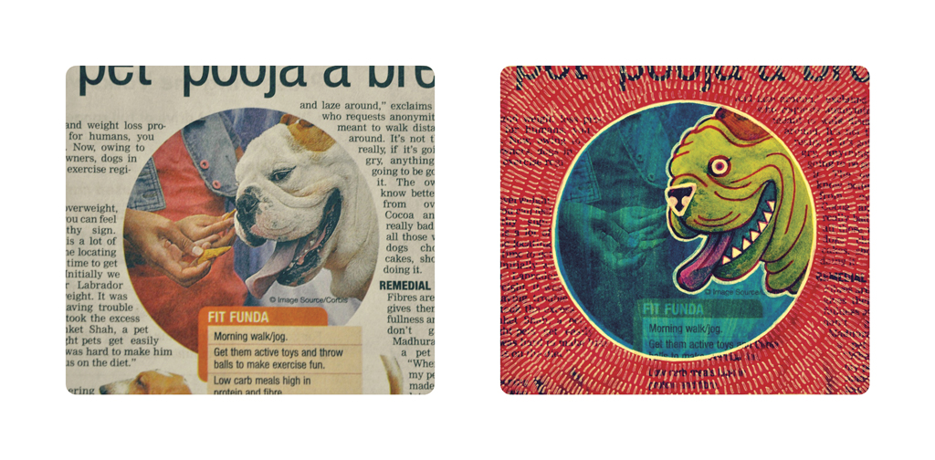 Bulldog from the 'I Doodle on Newspaper' project