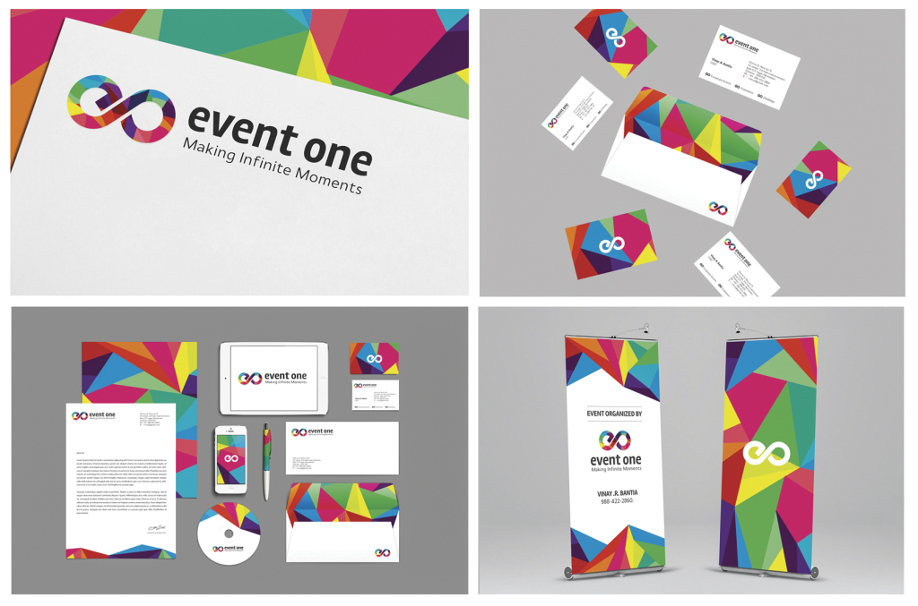 A branding project for a versatile event planning company, 'EVENT ONE'