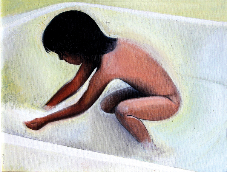 BATH - oil on canvas