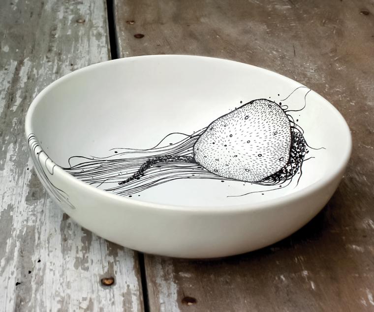 Seashroom Stoneware Bowl