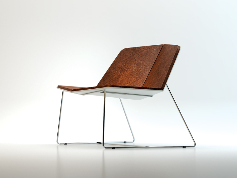 Named after the god of desire, the Cupid chair tilts towards the middle, encouraging two people to lean into an embrace