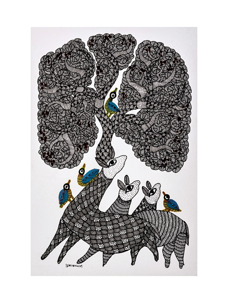 Gond Painting by Subhash Vyam