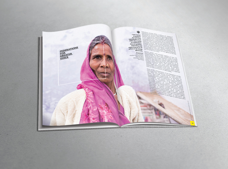 Annual Report design for The Hunger Project