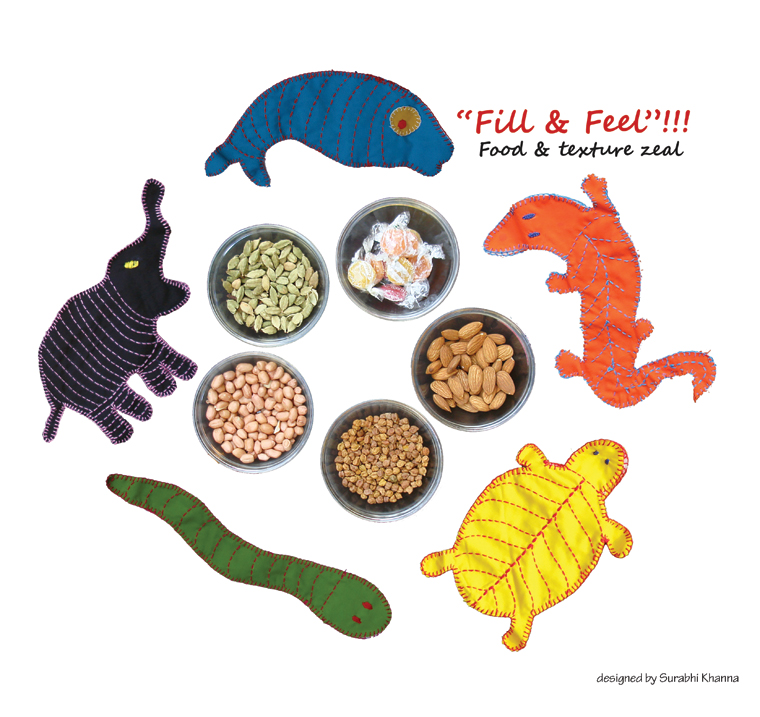 'Fill and Feel' - refillable dry fruits, containers for gifts & play therapy