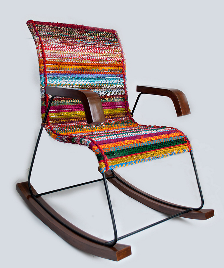 Rocking Chair in Georgette Katran Ropes