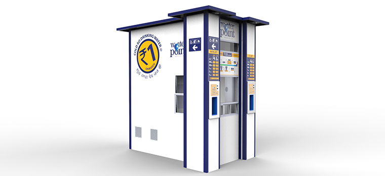 Water ATM design for Railway Stations
