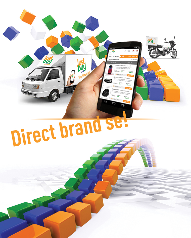 Brand language development for world's first e-distributor; Just Buy Live