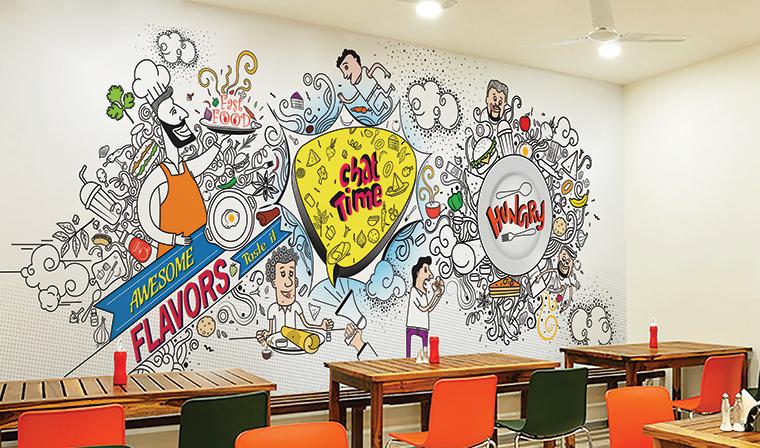 Cafeteria Environmental Graphics